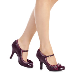 Ruby Shoo Wine Red Mary Jane Heels