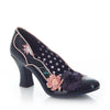 Ruby Shoo Navy Heeled Corsage Court Shoes - Pretty Kitty Fashion