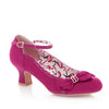 Ruby Shoo Fuschia Bow Court Shoes - Pretty Kitty Fashion