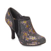 Ruby Shoo Juno Retro Grey Floral Shoe Boot