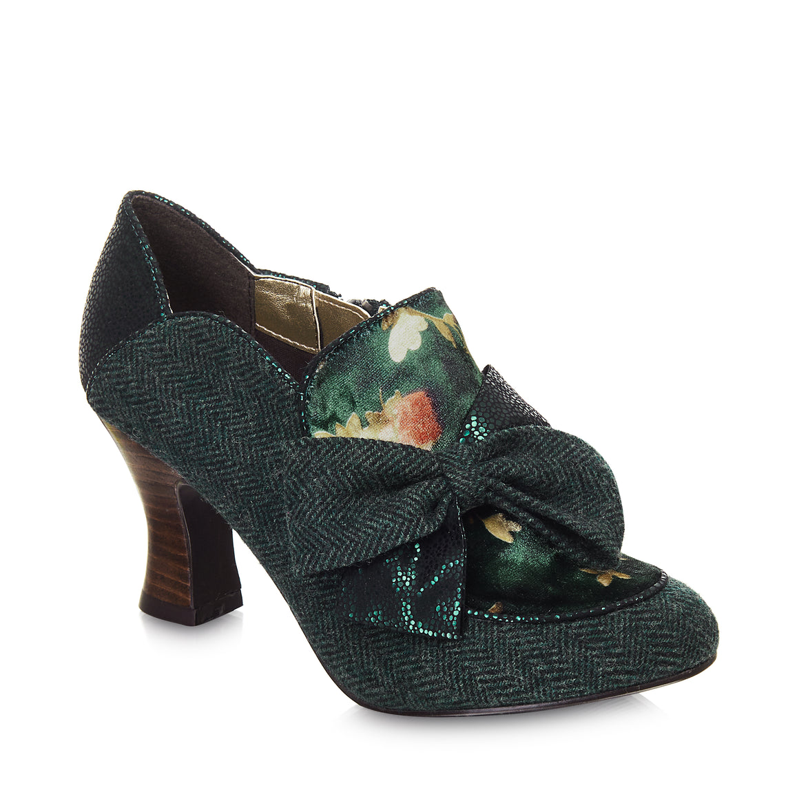 Ruby Shoo Astrid Vintage 1920s Green Shoe Boot