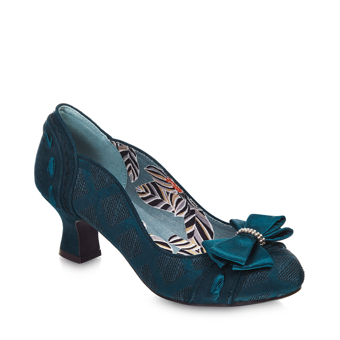 Ruby Shoo Rhea Teal Court Shoe