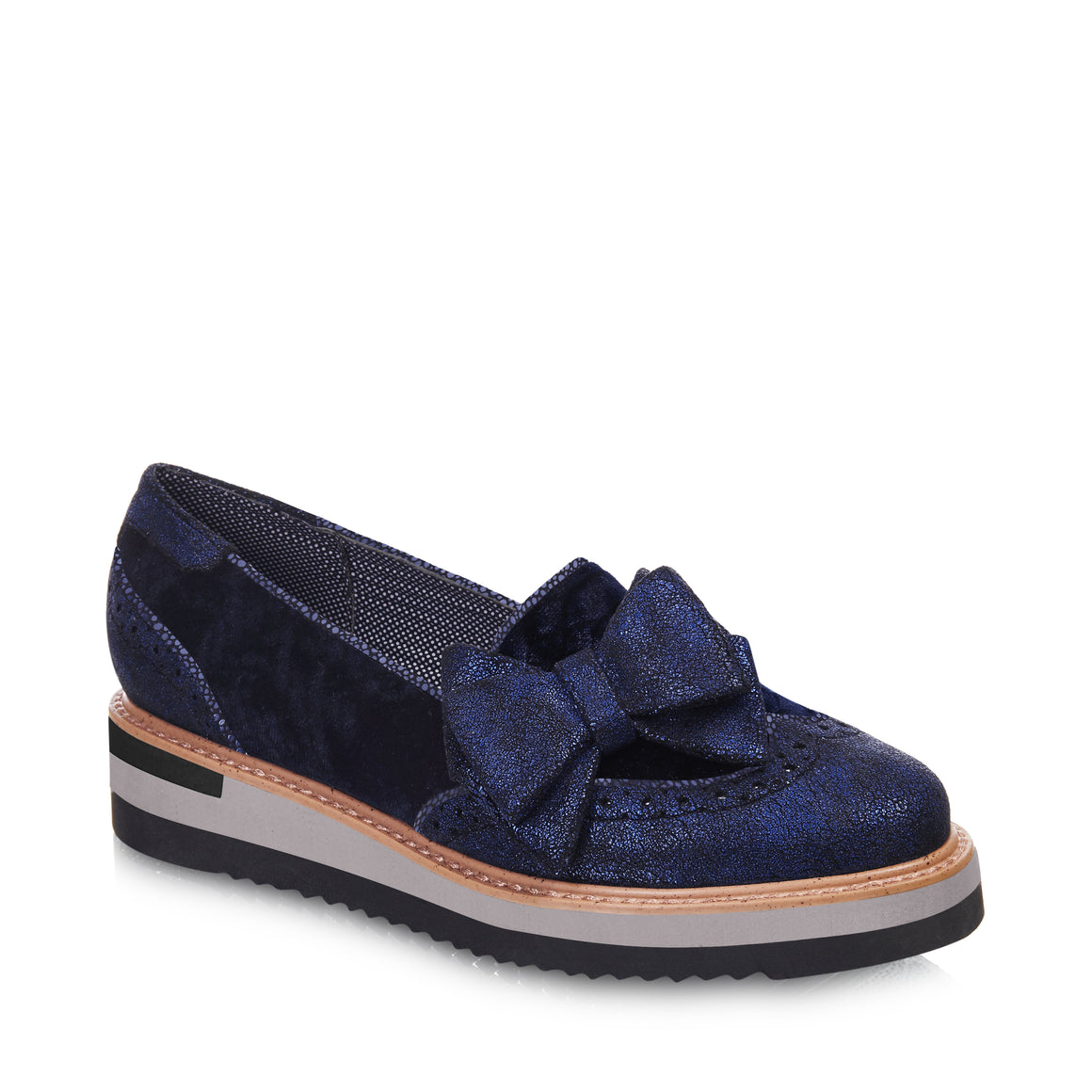 Ruby Shoo Joanne Blue Brogue Shoes