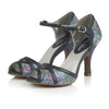 Ruby Shoo Eliza Vintage Blue Floral Open Toe Heels - Pretty Kitty Fashion
