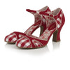Ruby Shoo Red And White Checkered Strap Heeled Jeraldine Court Shoe - Pretty Kitty Fashion