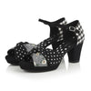 Ruby Shoo Black And White Strap Open Toe Xanthe Heels