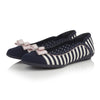 Ruby Shoo Vintage Navy Cream Stripe Lizzie Pumps - Pretty Kitty Fashion