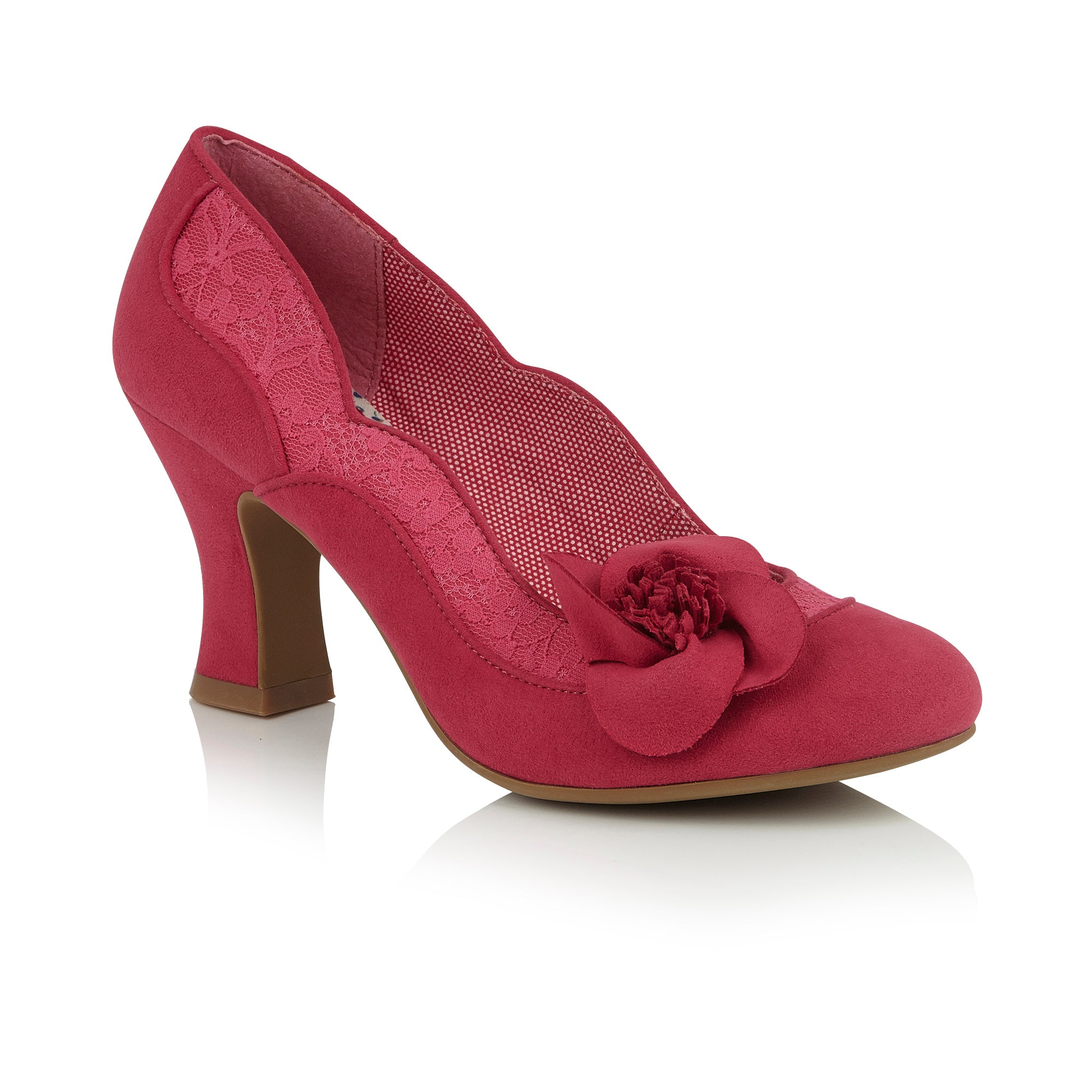 ebbc438fa5a95 Ruby Shoo Fuchsia Heeled Corsage Veronica Court Shoes
