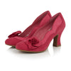 Ruby Shoo Fuchsia Heeled Corsage Veronica Court Shoes - Pretty Kitty Fashion