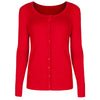 Red Stretch Button Cardigan - Pretty Kitty Fashion