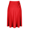Red Pin Up Slinky Swing Office Work Flare Skirt