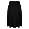 Black Pin Up Slinky Swing Office Work Flare Skirt