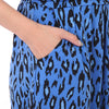 Jolie Moi Blue Leopard Print Half Sleeve Wrap Dress - Pretty Kitty Fashion