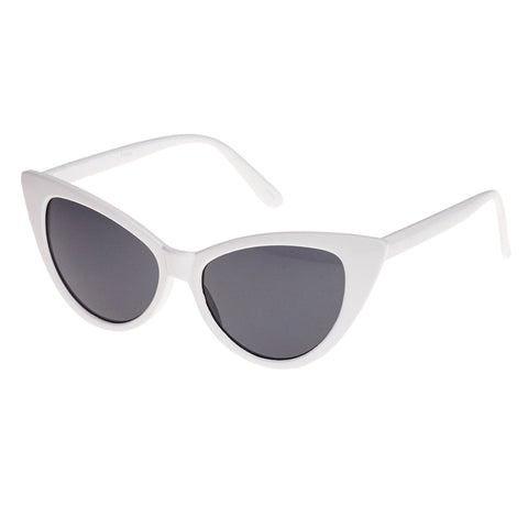 White Vintage Retro Cat Eye Sunglasses