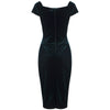 Green Velour Crossover Wiggle Dress - Pretty Kitty Fashion