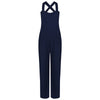 Navy Blue Wide Leg Playful Jumpsuit - Pretty Kitty Fashion