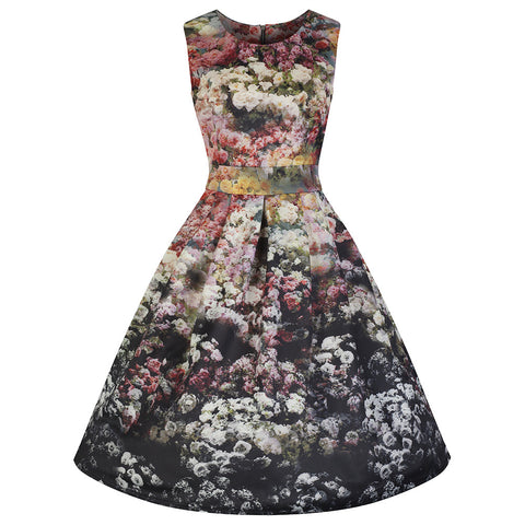 Multi Floral Audrey Swing Dress - Pretty Kitty Fashion
