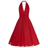 Red Chiffon Vintage Marilyn Monroe Style 50s Swing Dress - Pretty Kitty Fashion