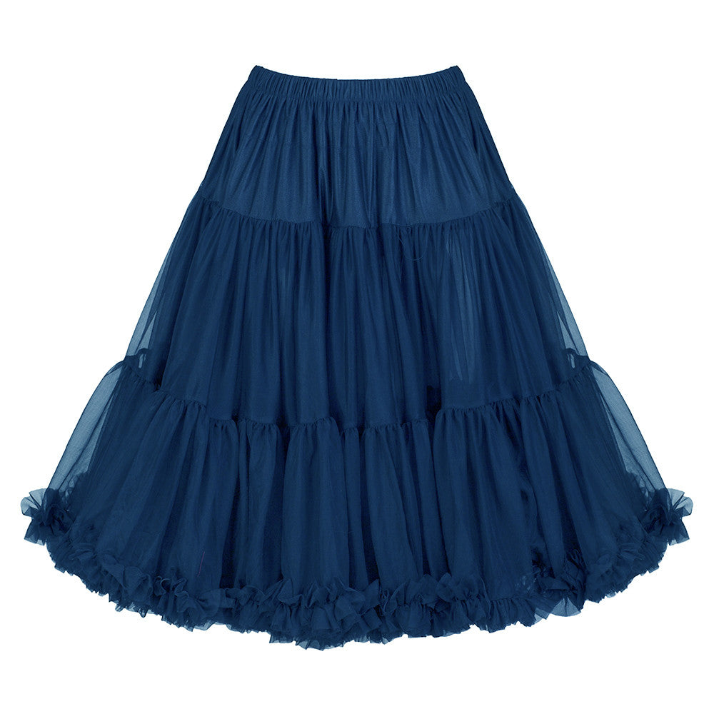 EXTRA VOLUME Navy Blue Net Vintage Rockabilly 50s Petticoat Skirt - Pretty Kitty Fashion