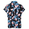 Black Pink Flamingo Print Retro Shirt Blouse - Pretty Kitty Fashion