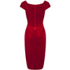 Red Velour Crossover Wiggle Dress - Pretty Kitty Fashion