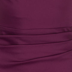 Plum Burgundy Purple Wiggle Pencil Dress