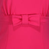Pink Vintage Bow Detail Sleeveless Swing Dress - Pretty Kitty Fashion