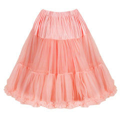EXTRA VOLUME Peach Pink Net Vintage Rockabilly 50s Petticoat Skirt