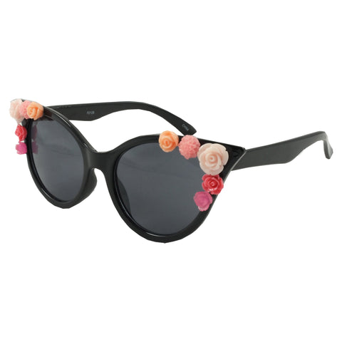 Black Vintage Retro Corsage Sunglasses