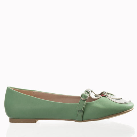 Aqua Green Swan Embroidered Mary Jane Pumps