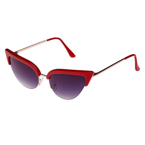 Red Vintage Retro Cat Eye Sunglasses