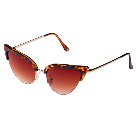 Tortoiseshell Vintage Retro Cat Eye Sunglasses