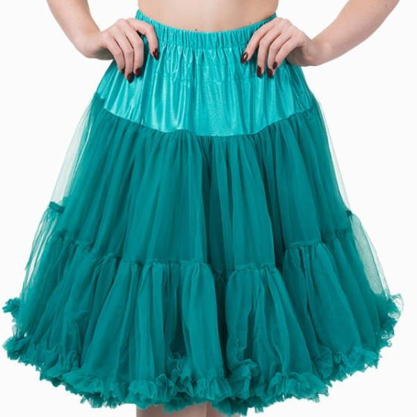 Emerald Green EXTRA VOLUME Net Vintage Rockabilly 50s Petticoat Skirt - Pretty Kitty Fashion