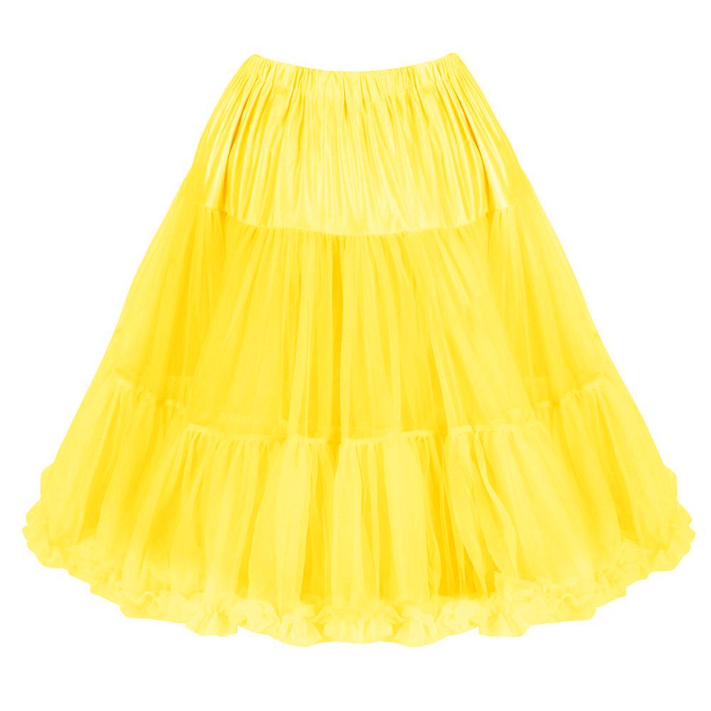 EXTRA VOLUME Yellow Net Vintage Rockabilly 50s Petticoat Skirt - Pretty Kitty Fashion