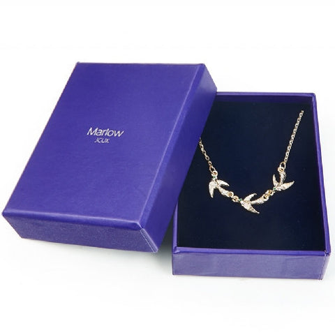 Vintage Gold Bird Swallow Necklace
