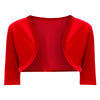 Red 1/2 Sleeve Velour Bolero - Pretty Kitty Fashion