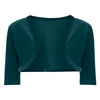 Green 1/2 Sleeve Velour Bolero - Pretty Kitty Fashion
