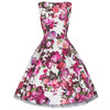 Little Kitty Girl's Cream White and Pink Floral Party Dress - Pretty Kitty Fashion