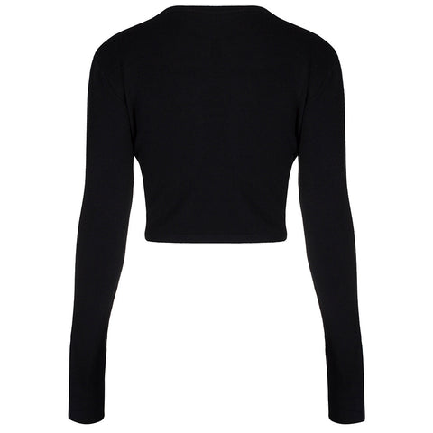 PRETTY KITTY BLACK STRETCH SHRUG/BOLERO