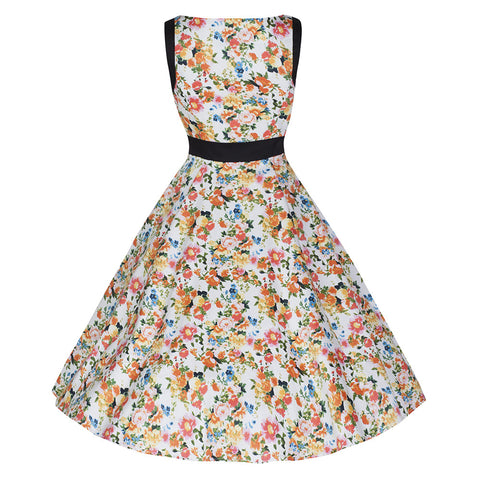 Pretty Kitty Fashion Summer Floral Print Swing Dress