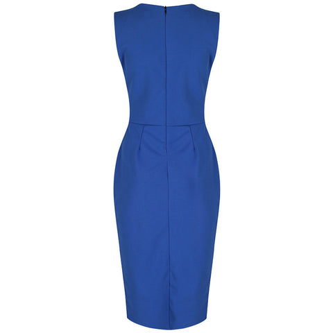 Airforce Blue Bodycon Pencil Dress