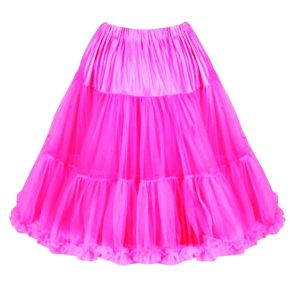 EXTRA VOLUME Hot Pink Net Vintage Rockabilly 50s Petticoat Skirt - Pretty Kitty Fashion