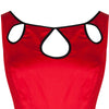 Pretty Kitty Red Black Cut Out Swing Dress