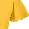 Honey Yellow Half Sleeve Deep V Neck Crossover Top Wiggle Dress - Pretty Kitty Fashion