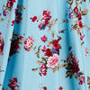 Sky Blue Vintage Floral Blossom Rockabilly Swing Dress