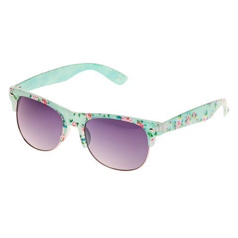 Green Floral Vintage Sunglasses