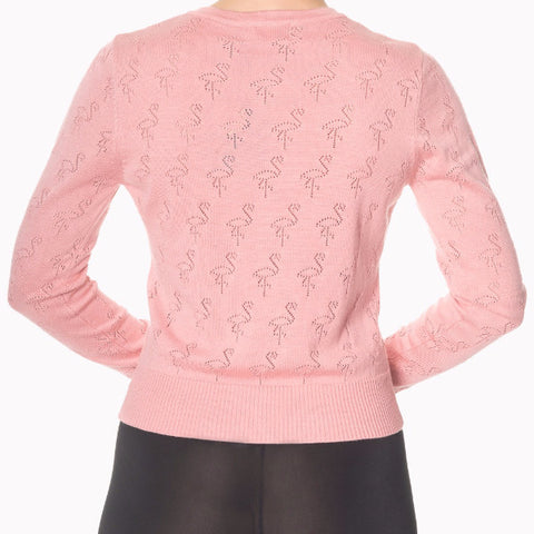 Long Sleeve Pink Flamingo Cardigan