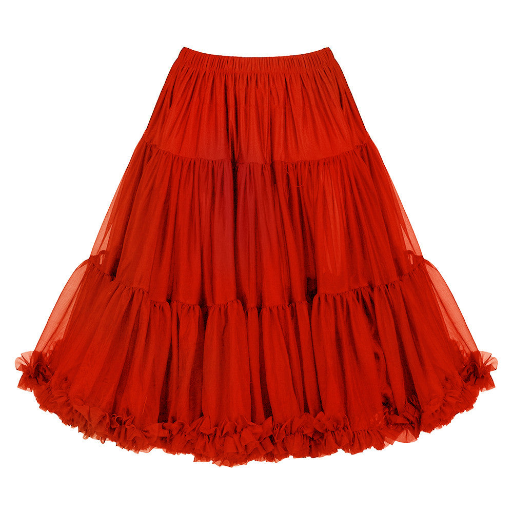EXTRA VOLUME Red Net Vintage Rockabilly 50s Petticoat Skirt