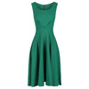 Emerald Green Pleated Swing Summer Dress - Pretty Kitty Fashion