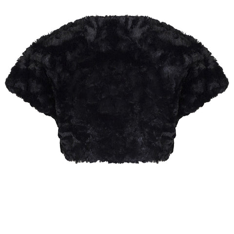 Faux Fur Black Shrug - Pretty Kitty Fashion